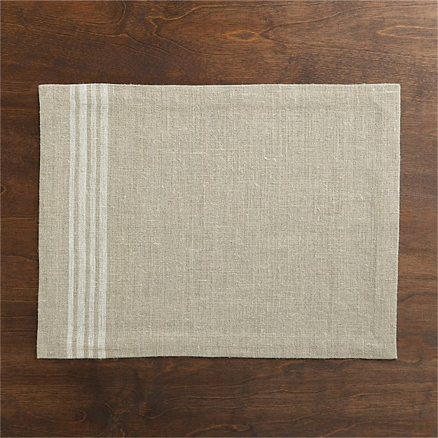 Easton White Stripe Placemat