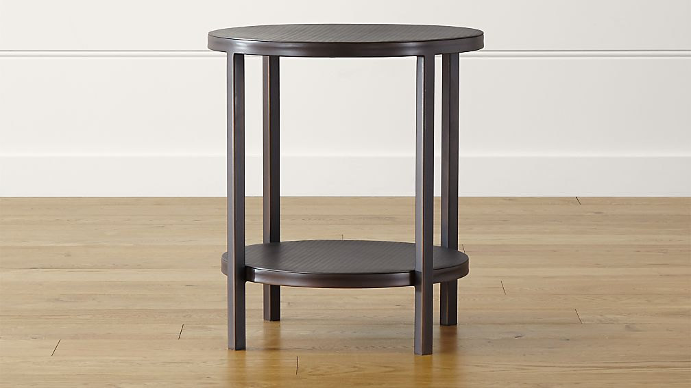 echelon round side table + reviews | crate and barrel