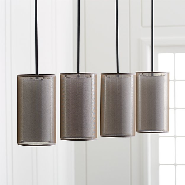 Eclipse Bronze Linear Chandelier Crate and Barrel