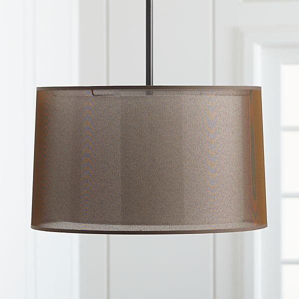Eclipse Antiqued Bronze Pendant Light
