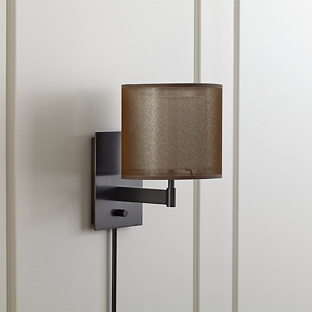 Eclipse Antiqued Bronze Wall Sconce Reviews Crate And Barrel