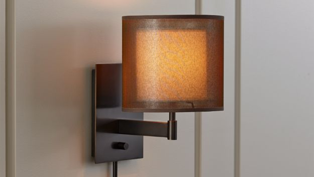 Eclipse Antiqued Bronze Wall Sconce Crate and Barrel