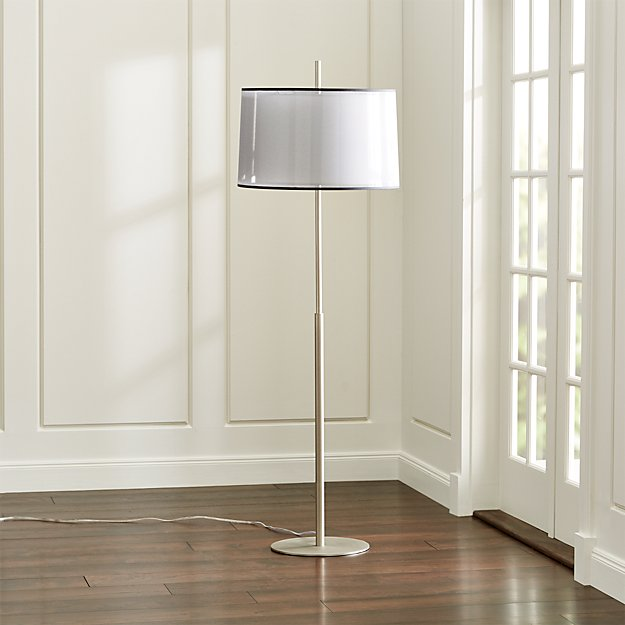 Eclipse Silver Floor Lamp