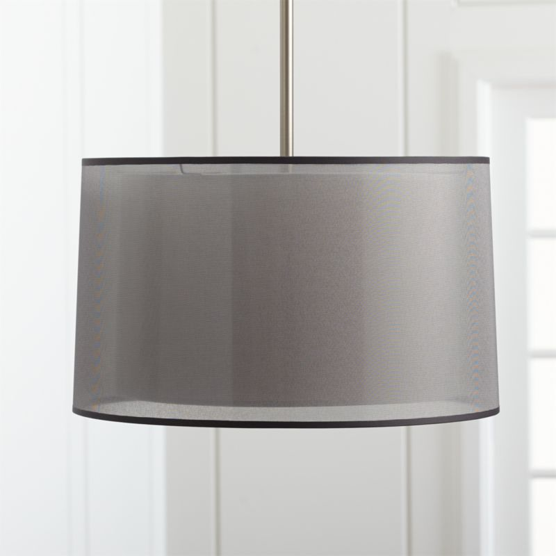 Eclipse Silver Pendant Light Reviews Crate And Barrel