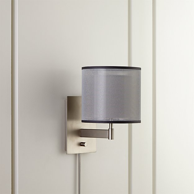Eclipse Silver Wall Sconce Crate And Barrel