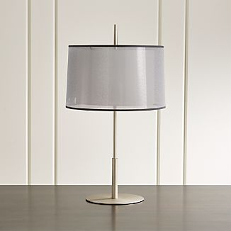 Eclipse Silver Table Lamp