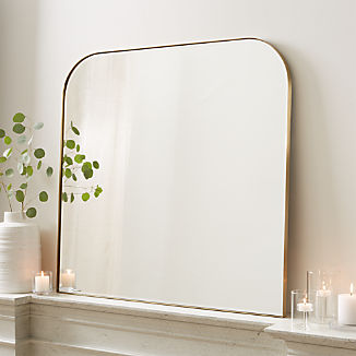 Edge Brass Arch Wall Mirror