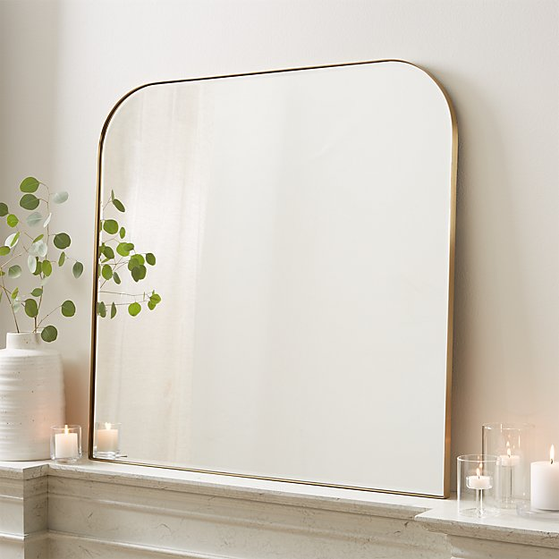 Edge Brass Arch Wall Mirror - Image 1 of 6