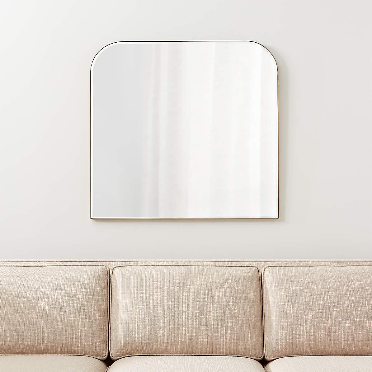 Edge Brass Minimalist Mirror Reviews Crate And Barrel