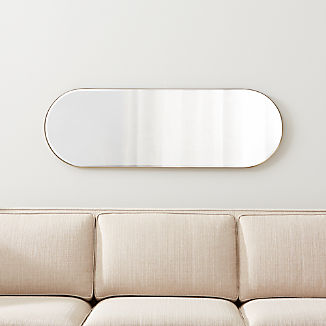 Edge Brass Capsule Mirror