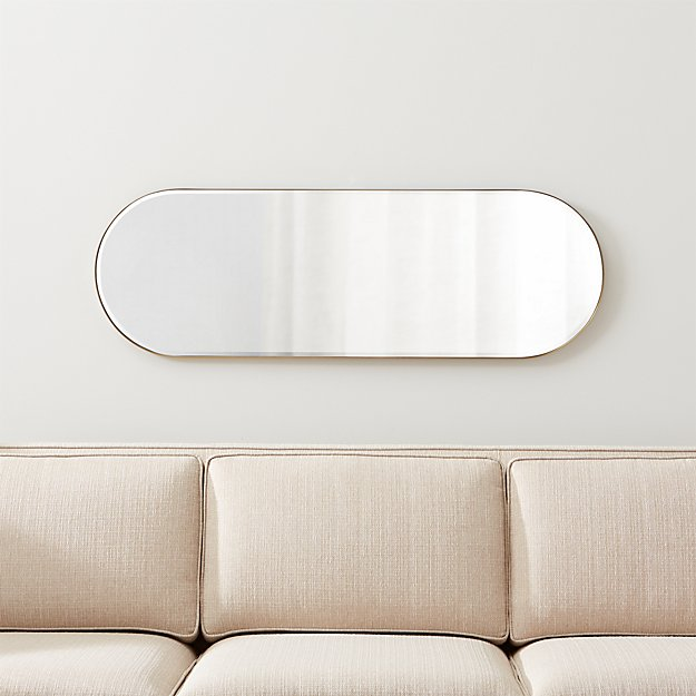 Edge Brass Capsule Mirror - Image 1 of 7
