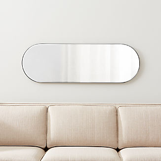 Edge Brushed Nickel Capsule Mirror