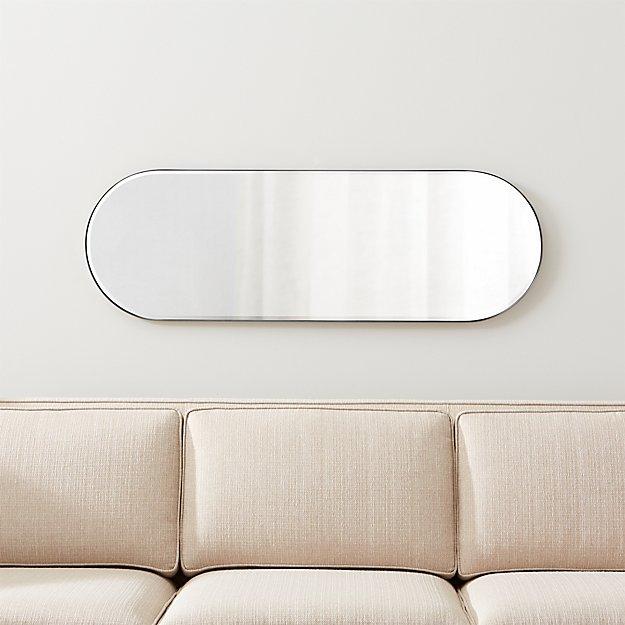 Edge Brushed Nickel Capsule Mirror - Image 1 of 7