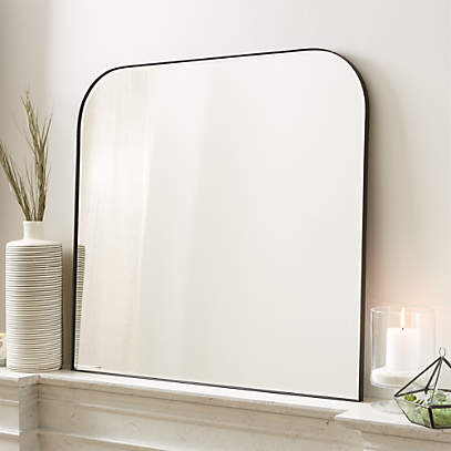Edge Black Arch Wall Mirror Reviews Crate And Barrel
