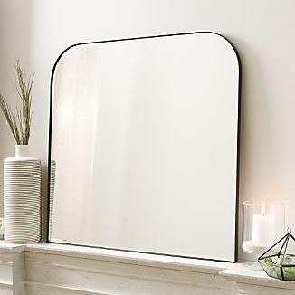 Edge Gunmetal Arch Wall Mirror