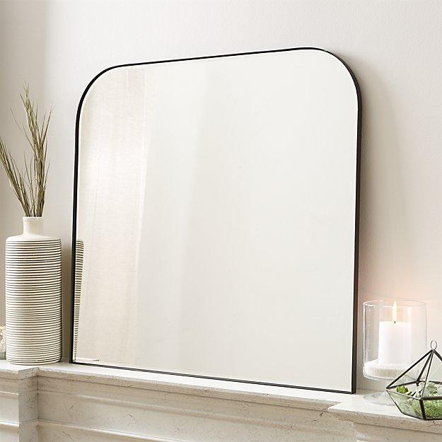 Edge Gunmetal Arch Wall Mirror - Image 1 of 8