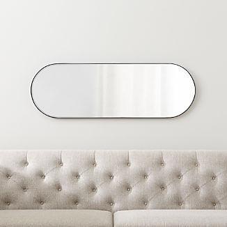 Edge Gunmetal Capsule Mirror