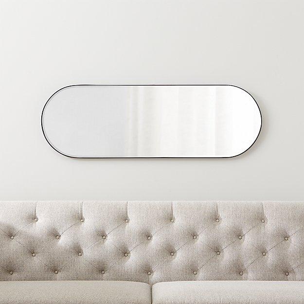 Edge Gunmetal Capsule Mirror - Image 1 of 8