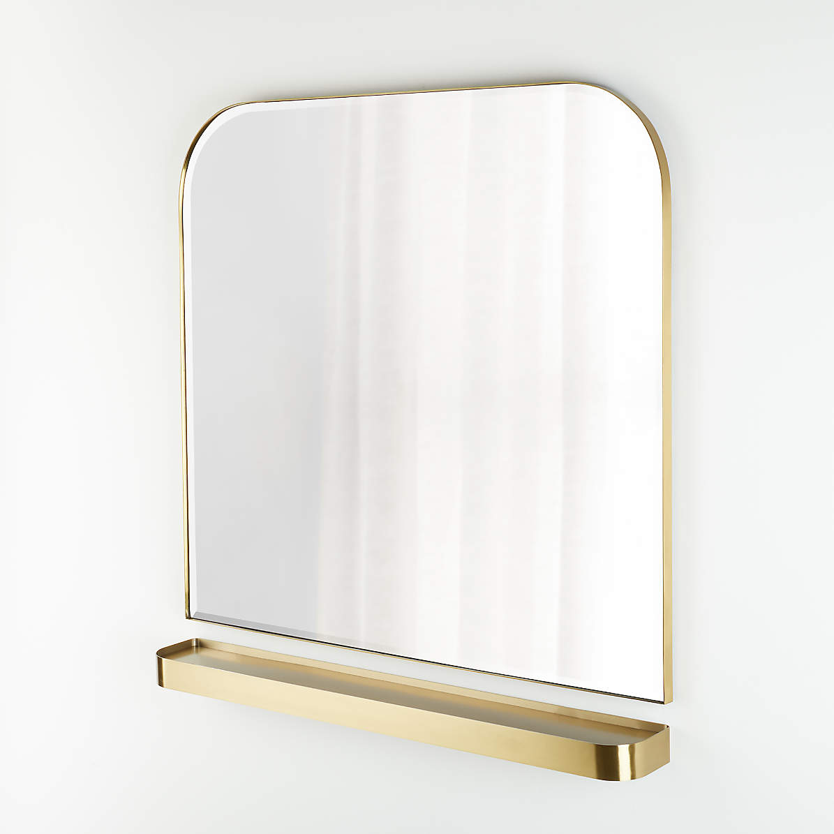 Edge Brass Arch Wall Mirror And Shelf Set Reviews Crate And Barrel Canada