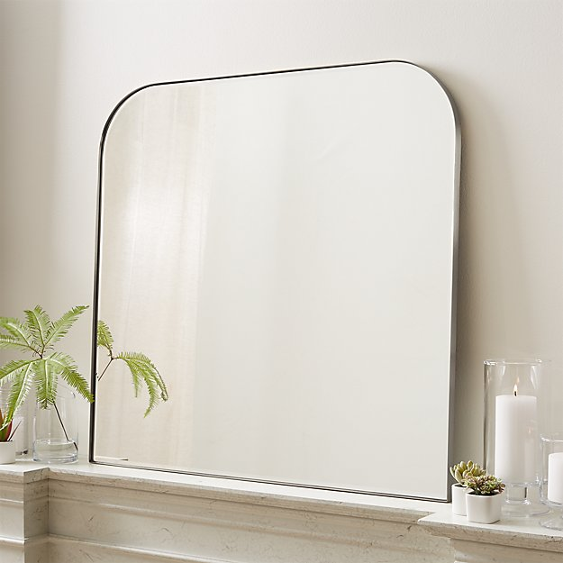 Edge Brushed Nickel Arch Wall Mirror - Image 1 of 5