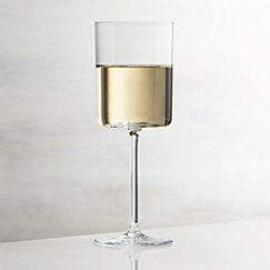 Edge Square Wine Glasses Crate And Barrel