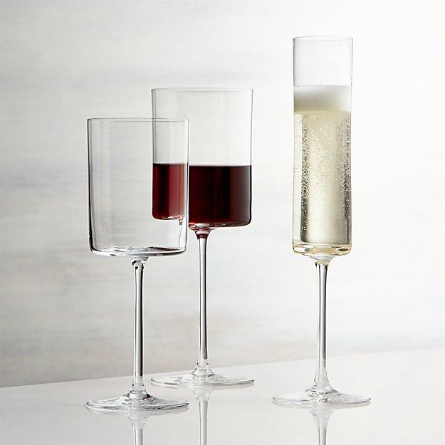 Edge Square Wine Glasses Crate And Barrel