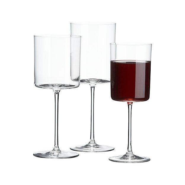 edge square wine glasses crate and barrel. Black Bedroom Furniture Sets. Home Design Ideas