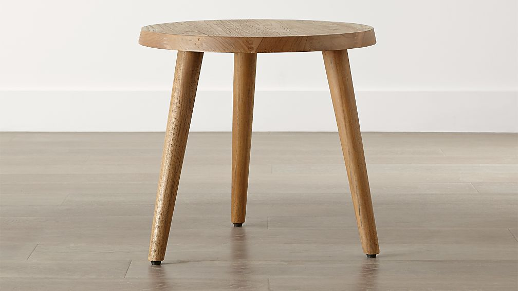 Edgewood Round Side Table Reviews Crate And Barrel - Round end table with doors