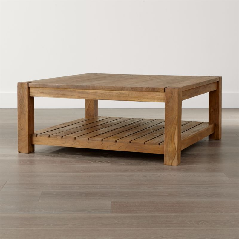 Coffee tables crate and barrel edgewood square coffee table watchthetrailerfo