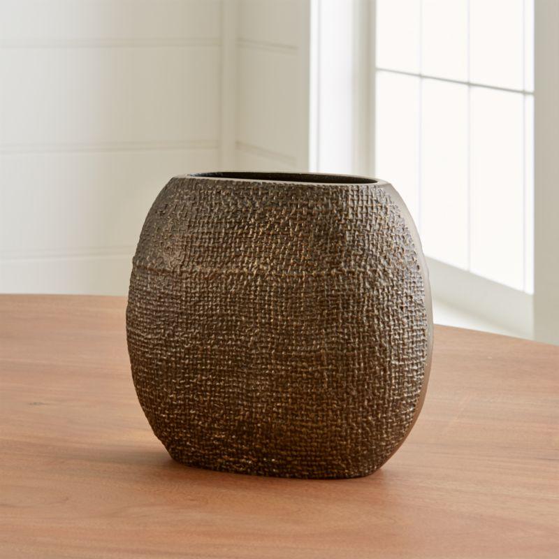 Egan Textured Metal Vase Reviews Crate And Barrel