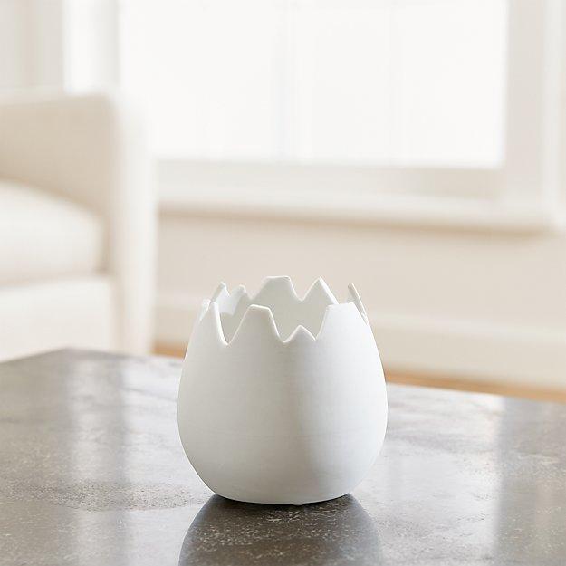 White Eggshell Holder
