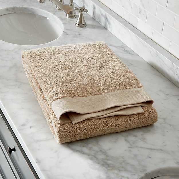 Egyptian Cotton Sand Tan Bath Sheet