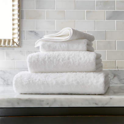 Egyptian Cotton White Towels Crate And Barrel