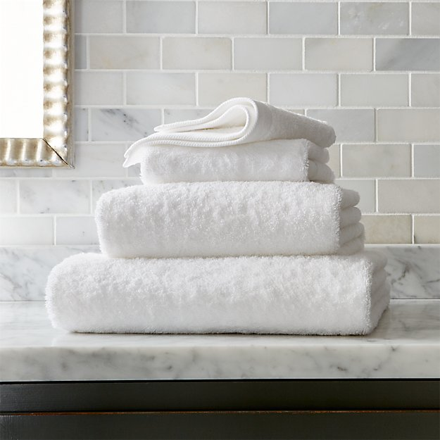 Egyptian Cotton White Bath Towels - Image 1 of 2