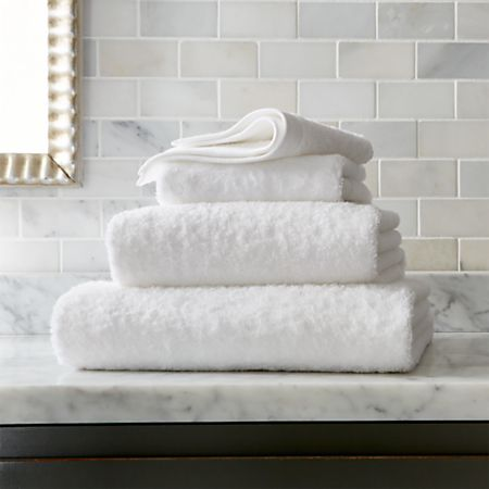 Egyptian Cotton White Towels Crate