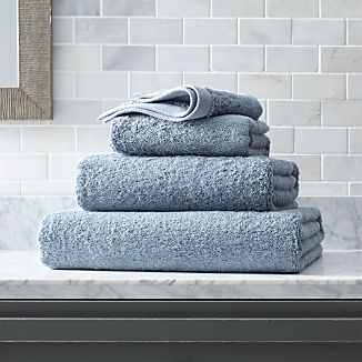 Egyptian Cotton Dusty Blue Bath Towels