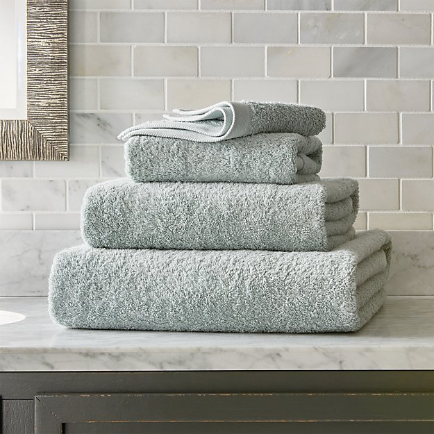 Egyptian Cotton Spa Blue Bath Towels