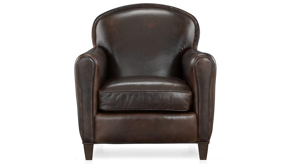 EiffelChairCigarF7. EiffelLeatherChairSF15. TeganCurtainPnlEiflChrFNM12 - Eiffel Leather Club Chair In Chairs + Reviews Crate And Barrel