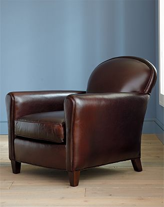 Eiffel brown leather chair