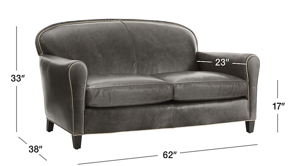 Eiffel Leather Loveseat Crate And Barrel