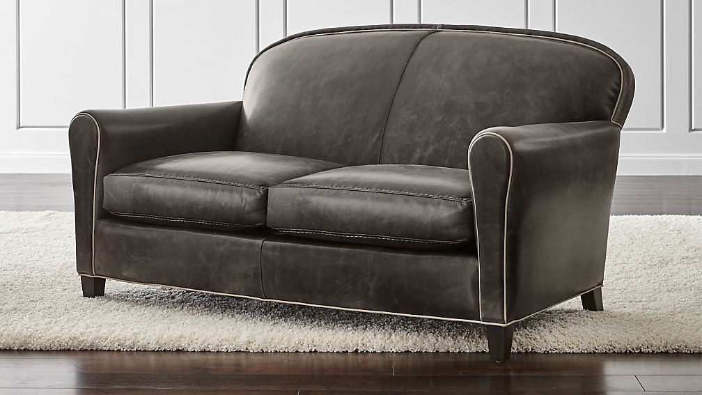 Eiffel Leather Loveseat - Image 1 of 5