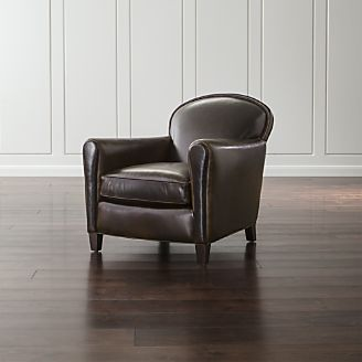 pin it eiffel leather chair - Leather Chair And A Half