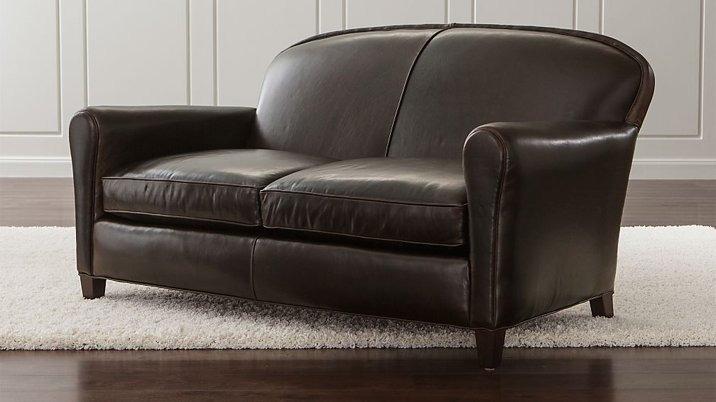 Eiffel Leather Loveseat - Image 1 of 2