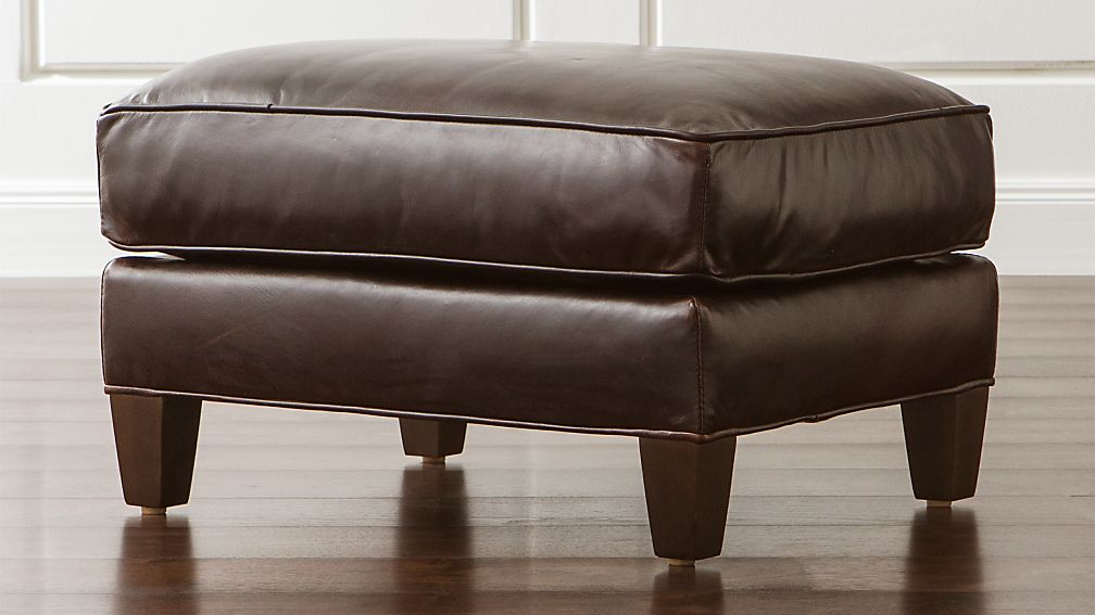 Eiffel Leather Ottoman - Image 1 of 3