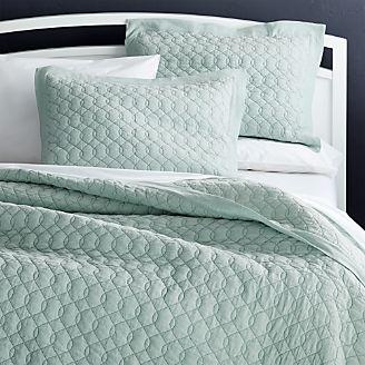 elize aqua quilts and pillow shams