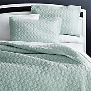 Elize Chambray Aqua Full/Queen Quilt