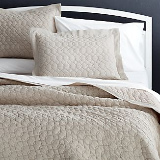 Elize Chambray Natural Kng Quilt