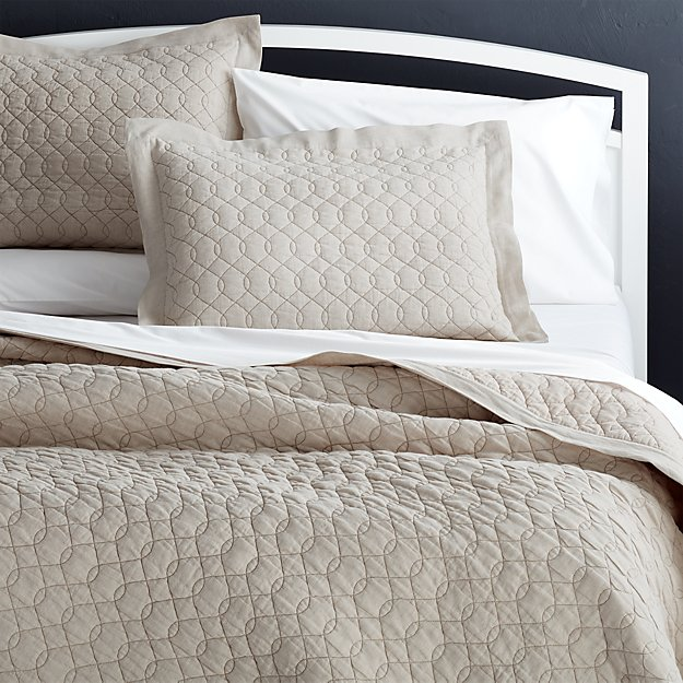 Very best Elize Natural Quilts and Pillow Shams | Crate and Barrel NA82