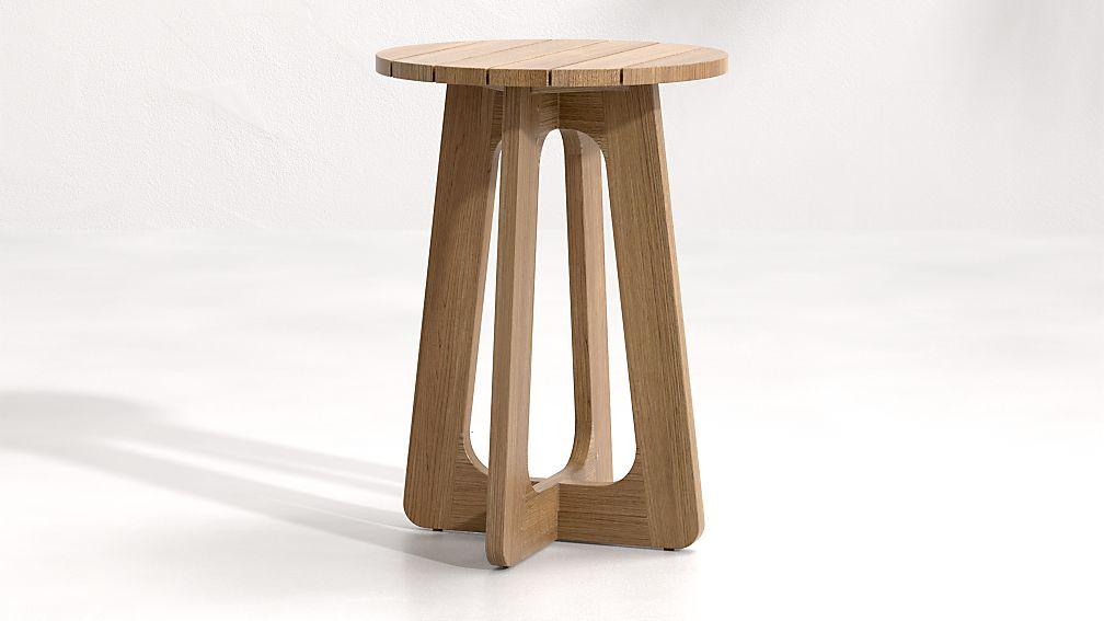 Ekland Tall Teak Nesting Table - Image 1 of 6