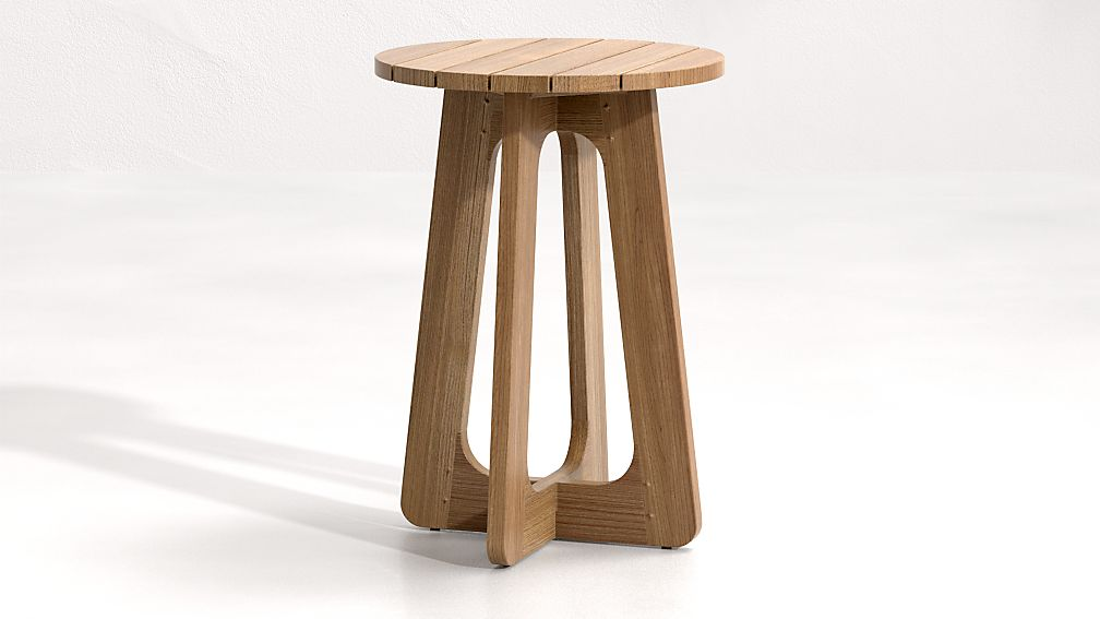 Ekland Low Teak Nesting Table - Image 1 of 6